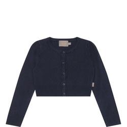 Girls Scallop Trim Sweater