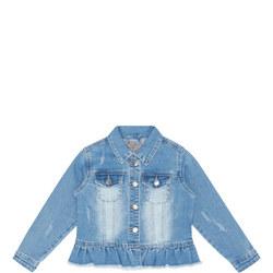 Girls Distressed Denim Jacket