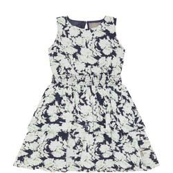 Girl Floral Peplum Dress