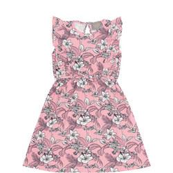 Girls Floral Frilled Dress