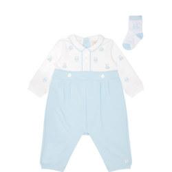 Babies Stan Romper And Socks Set
