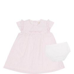 Babies Sabrina Stripe Dress And Bloomer Set