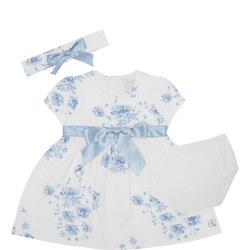 Babies Simone Floral Dress Headband And Bloomer Set
