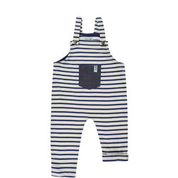 Babies Striped Dungarees