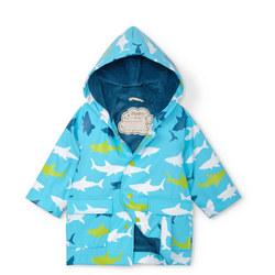 Babies Shark Print Rain Jacket