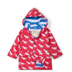 Babies T-Rex Print Rain Jacket