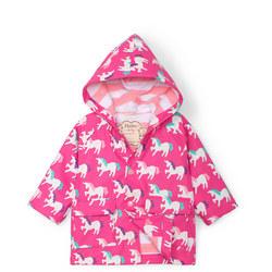 Babies Unicorn Print Rain Jacket