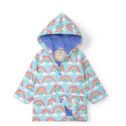 Babies Rainbow Print Rain Jacket