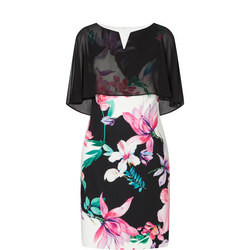 Chiffon Overlay Floral Dress