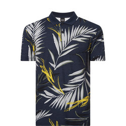 Leaf Print Polo Shirt
