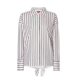 Etille Stripe Bow Back Shirt