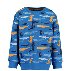Boys Crocodile Print Sweater