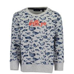 Boys Whale Print Sweater