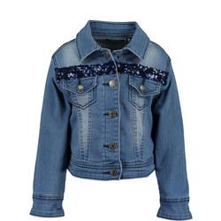Girls Denim Bomber Jacket