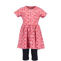 Girls Layered Polka Dot Dress