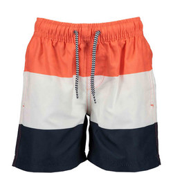 Boys Block Stripe Swim Shorts
