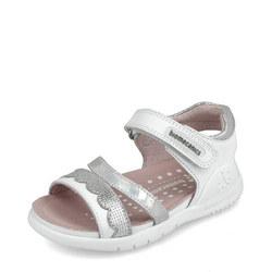 Girls Metallic Stripe Velcro Sandals