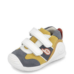 Babies Colour Block Suede Velcro Trainers