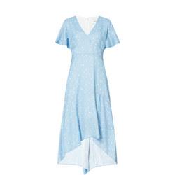 Polka Dot Handkerchief Hem Dress