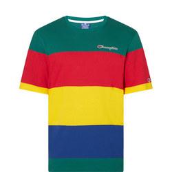 Stripe Colourblock Crew T-Shirt