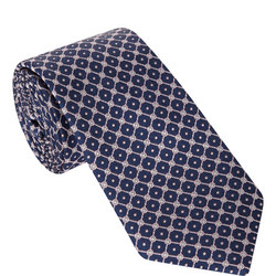 Diamond Circle Print Tie