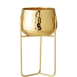 Flowerpot Gold Metal