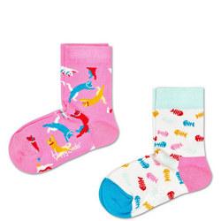 Girls Two-Pack Cat Socks