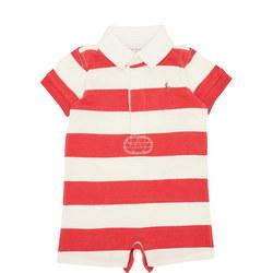 Babies Stripe Print Rugby Romper