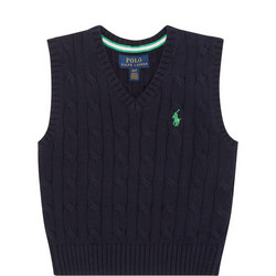 Boys Cable Sweater Vest