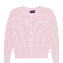 Girls Ribbed Knit Cardigan