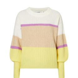 Alpia Stripe Print Sweater