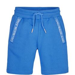Boys Intarsia Knit Logo Track Shorts