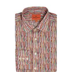 Tie Print Formal Shirt