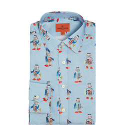 Robot Print Formal Shirt