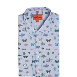 Insect Print Oxford Formal Shirt