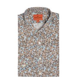 Butterfly Print Formal Shirt