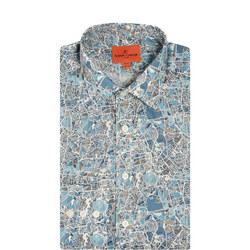 London Street Map Formal Shirt