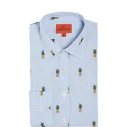 Pineapple Stripe Print Formal Shirt