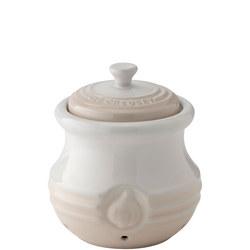 Stoneware Garlic Keeper Meringue