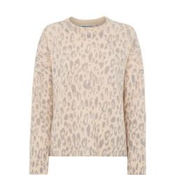 Animal Print Merino Sweater