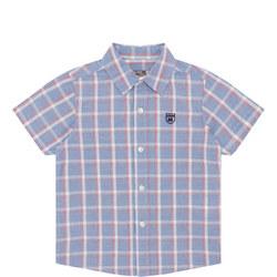 Boys Short Sleeve Check Shirt