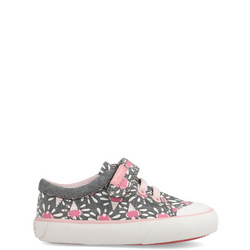 Girls Ice Cream Velcro And Lace Trainers