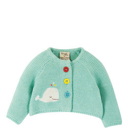 Babies Knitted Whale Cardigan