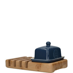 Small Butter Dish and Toast Rack Navy