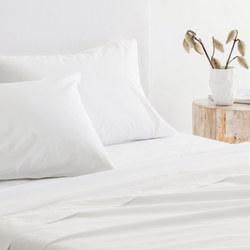 300TC Organic Cotton Flat Sheet Snow