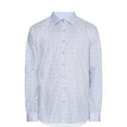 Petal Print Formal Shirt
