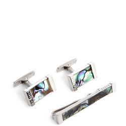 Pinsal Semi-Precious Cufflink and Tie Bar Giftset
