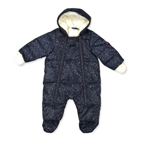 Baby Quilted Pramsuit Purple