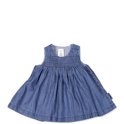 Baby Girls Denim Dress Blue