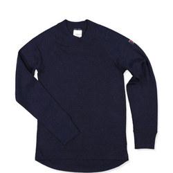 Kids Merino Wool Top Blue